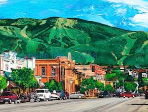 Downtown Steamboat Springs by Michelle Ideus
